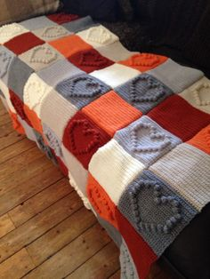Bobble Heart blanket