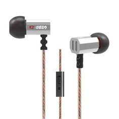 Original KZ ED9 Super In Ear Music Earphone With dj Headphone HIFI Stereo Earbuds Noise Isolating Sport Earphones Headset