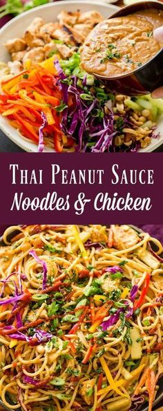 You don't have to head out to your local favorite Thai restaurant for Thai Peanut Sauce Noodles and Chicken. You can make the best thai peanut sauce at home! via @ohsweetbasil