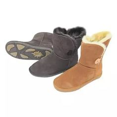 Leather Snow Boots for women  Upper: cow-suede Lining: plush Outsole: rubber and EVA  Found at 1926510857@qq.com