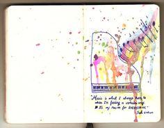 Watercolor & Ink JGro quote