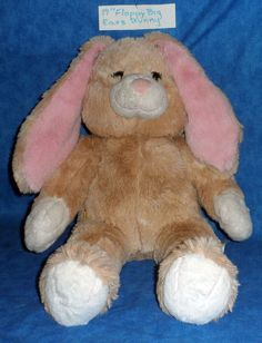 """15/"""" BABW Build a Bear Soft Brown Shimmer Bunny Rabbit Pink Nose /& Ears Unstuffed"""