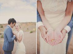 Red Rock Wedding Portrait Session - ring shot!