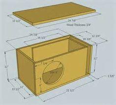 Image Result For Subwoofer Box Design For 12 Inch Hangfaltervek