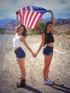 american flag photoshoot