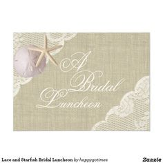Lace and Starfish Bridal Luncheon