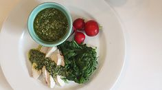 Poached Chicken Breasts with Lemon-Basil Salsa Verde ::Mulberry & Vine, NYC::