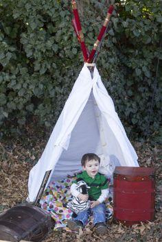 back yard tepee Children's and Family Photography Wichita, Kansas