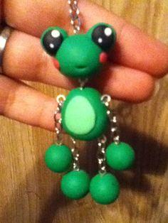 Froggie FUN keychain polymer clay ^_^