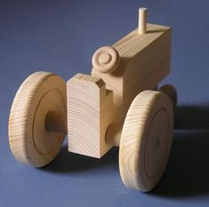 Woodworking Training Large Wooden Toy Tractor - If you are interested in quantities of more than one of this toy, please send me a conversation to check for availability. Woodworking Images, Woodworking Projects For Kids, Woodworking Toys, Wooden Toy Trucks, Wooden Car, Small Wood Projects, Wood Lathe, Wooden Puzzles, Wood Toys