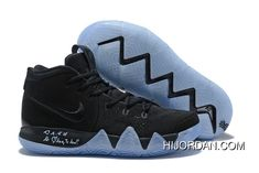 New Nike Kyrie 4 Black Suede Basketball Shoes Outlet 4afdfa94c00