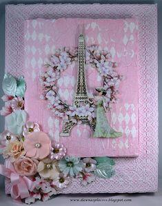 Dawna's Place: Parisian Shabby Chic Canvas