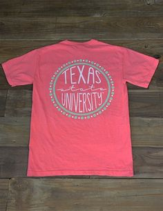 The circle of your life revolves around Texas State! Show your love for your school in this new Comfort Color TXST t-shirt! GO BOBCATS Cheer Shirts, Team T Shirts, Sorority Shirts, Football Shirts, School Tshirt Designs, School Spirit Shirts, Diy Shirt, Vinyl Tshirt, Cheer Coaches