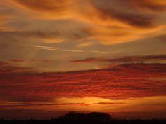 A Sunset over Serooskerke Walcheren, the Netherlands.