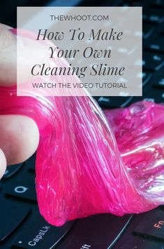 How To Make Your Own Cleaning Slime At Home You will love this homemade cleaning slime recipe and it's so easy to make and works great! Watch the video tutorial too. Car Cleaning Hacks, Household Cleaning Tips, Deep Cleaning Tips, Cleaning Recipes, House Cleaning Tips, Natural Cleaning Products, Car Hacks, Cleaning Routines, Green Cleaning