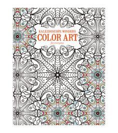 Adult Coloring Book-Leisure Arts Kaleidoscope Wonders