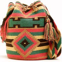 Cabo Wayuu Mochila | WAYUU TRIBE – WAYUU TRIBE | Handmade Bohemian Bags Crochet Art, Tapestry Crochet, Crochet Patterns, Crochet Handbags, Crochet Purses, Jute, Ethnic Bag, Tapestry Bag, Art Bag