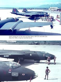 April 19, 1967     Eight Australian Canberra (B-57) bombers of Squadron Number 2 arrived at Phan Rang Air Base to make Australia the second country to support the RVN with a tri-service contingent