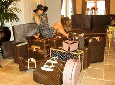 If you thought the WAGs were bad with getting all glitzed up for the World Cup, you ain't seen nothing yet. Paris Hilton took off for South Africa (by private jet, natch) with enough Louis Vuitton luggage to open her own boutique.