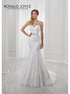 Ronald Joyce 18117 LILI Fitted Fishtail Lace Bridal Gown Ivory