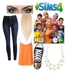 """""""Sims Hope You enjoy!"""" by lillycake ❤ liked on Polyvore featuring Rapunzel Of Sweden, Dorothy Perkins, Converse and Tory Burch"""