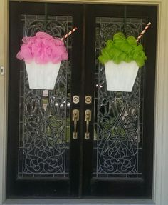 How New Orleans is this?  Snoball door hangers!  www.facebook.com/designsbydeanie