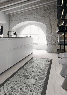 Vives presents Maison Bohème, porcelain and white body #tiles #kitchen @Vivis Borges Azulejos y Gres