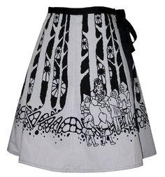 fairytale forest skirt  snow white  deep by madewithlovebyhannah, $62.00