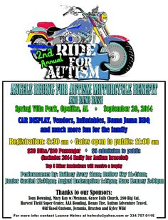 Motorcycle Poster Autism Poker Run | Posters | Pinterest ...