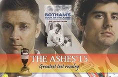 ‪#‎Bookdean‬ wishes all the best to both test cricket captains, ‪#‎MichaelClarke‬ and ‪#‎AlastairCook‬ for ‪#‎TheAshes2015‬, to showcase their nerves of steel and make this smash historic for ‪#‎TheAshesUrn‬. During such historic contest, #Bookdean tells to its readers and cricket fans that ‪#‎BothamsBookOfTheAshes‬ : A Life Time Love Affair with Cricket's Greatest Rivalry can be a best read in this cricketing season. Ian Botham, Test Cricket, Love Affair, Fans, Steel, Baseball Cards, Reading, Books, Life
