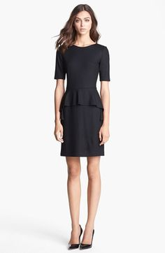 "Theory ""Arvada Wool Sheath Dress"" in Black.  I own this dress and I LOVE IT!"
