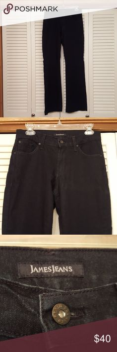 JAMES JEANS BLACK JEANS SIZE 30 X 32 NICE USED CONDITION. LIGHTLY WORN. FABRIC DOES HAVE SOME STRETCH. SMOKE FREE. THANKS FOR LOOKING. James Jeans Jeans Boot Cut