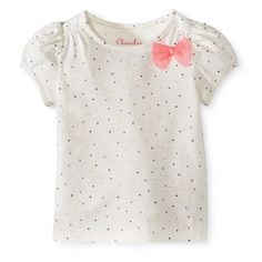 Infant Toddler Girls' Puff Sleeve Mini Heart Tee