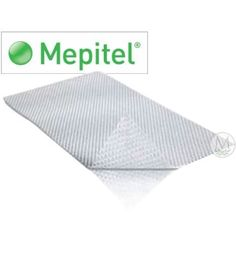 """Mepitel Non-adherent Silicone Dressing - 3 x 4"""" - - Box of 10 by Molnlycke. Save 52 Off!. $74.30. Protects newly-forming tissue from damage. Easy application and removal. Fine mesh netting coated with silicone gel. Will not stick to moist tissue, yet adheres firmly. Mepitel Non-adherent Silicone Dressing Mepitel Non-adherent Silicone Dressing is an atraumatic contact layer featuring Safetac soft silicone technology that will not stick to moist tissue such as a wound bed, bu..."""