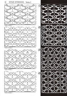 "Photo from album ""Дуплет on Yandex. Crochet Stitches Chart, Crochet Symbols, Crochet Motifs, Crochet Diagram, Filet Crochet, Diy Crochet, Lace Patterns, Stitch Patterns, Crochet Patterns"