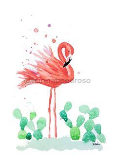 Flamingo, Rooster, Shop, Animals, Pen And Wash, Flamingo Bird, Animales, Animaux, Flamingos