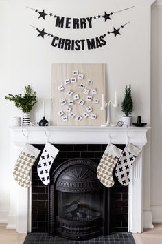Petal envelope printable for DIY Scandinavian-inspired advent calendar + christmas fireplace mantle decor | Happy Grey Lucky