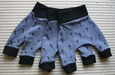 New baby hand stencilled harem pants