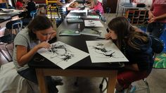 Examples of inkblot monster project