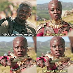 I wanted to see Wakandas full arsenal be used during Infinity War. Like how advanced are your weapons that you talk about? -CRE