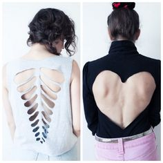 DIY  for tee shirts | diy ribcage and heart cut out tee shirt templates templates can be ...