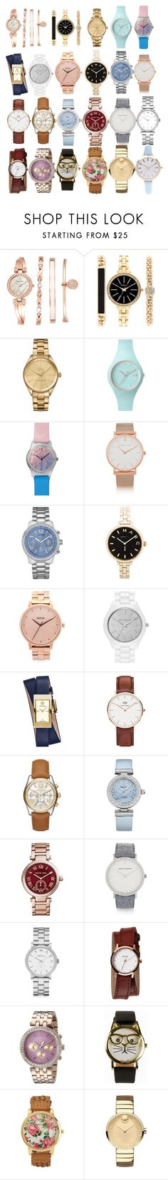 """""""What time is it?!"""" by marialaura-lattaruolo ❤ liked on Polyvore featuring moda, Anne Klein, Style & Co., Lacoste, Ice-Watch, May28th, Larsson & Jennings, GUESS, Marc by Marc Jacobs y Nixon"""