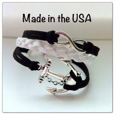 Infinity Anchor Bracelet Faith Bracelet Charm by QberryCreations, $13.00