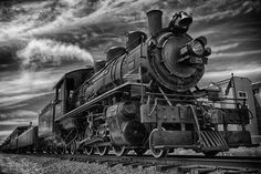 Photo Oregon Coast Scenic Railroad by Bruce Lee on Train Tattoo, Old Trains, Vintage Trains, Train Drawing, Train Illustration, Old Steam Train, Train Art, Train Pictures, Train Engines