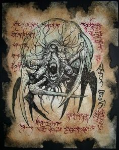 SPAWN of NEBROS cthulhu larp Necronomicon Fragment by zarono, $10.00