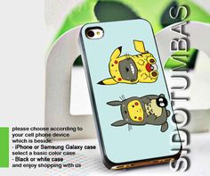 totoro and pikachu - case cover for.. · Sido Tumbas · Online Store Powered by Storenvy #samsung,  iphone -  apple -  #pikachu