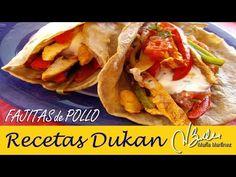 Fajitas Dukan de Pollo (con Tortillas, no con crepes) – Recetas Dukan Maria Martinez Dukan Diet, Chicken Fajitas, Crepes, Breakfast, Healthy, Ethnic Recipes, Tortillas, Food, Chicken Curry