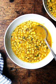 curried coconut corn soup.