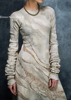 'Gleam of the Moon', Felt Collection by Diana Nagorna.