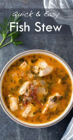 Quick, easy, and absolutely delicious fish stew! Fresh fish fillets cooked in a stew with onions, garlic, parsley, tomato, clam juice and white wine.…